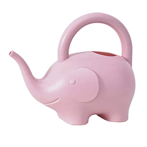 Angoily Elefant Gießkanne Neuheit Zimmerpflanze Gießkanne Dekorative Und Funktionelle Gießkanne 1L Rosa