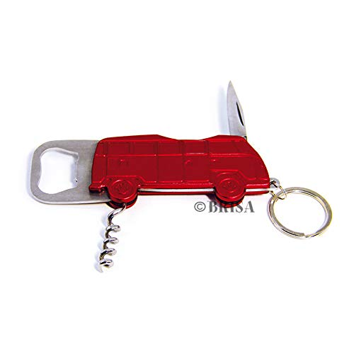 BRISA VW Collection Volkswagen VW T1 Bus Transporter Flesopener in geschenkdoosje - Rood