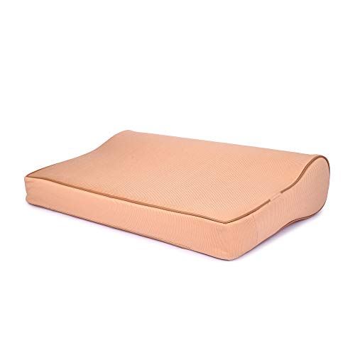 FABROYAL INDIA Cervical Contour Memory Foam Orthopedic Bed Pillow for Sleeping [Brown]