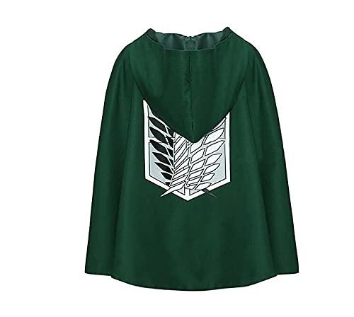 Disfraz de ataque a Titan Cloak Shingek No Kyojin Scouting Legion Anime Cosplay Cabo Verde M Longitud para Altura 150-160cm