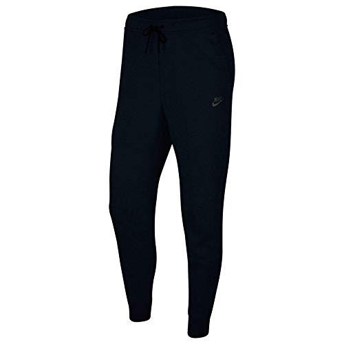 NIKE M NSW TCH FLC Jggr Sport Trousers, Hombre, Black/Black, L