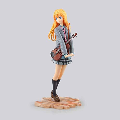 No 20CM Tu Mentira en Abril Abril es tu Mentira Uniforme Escolar Miyako Kaoru 1/8 Caja Escultura Regalo Modelo Obra de Arte Anime