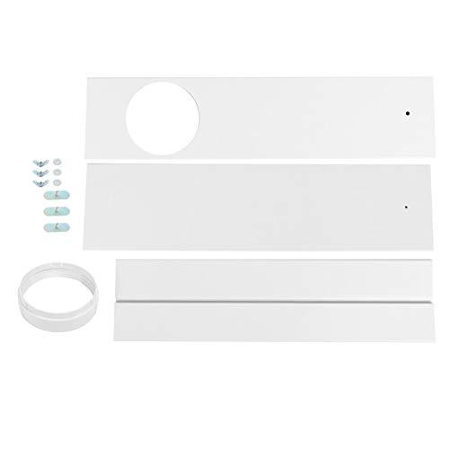 Kit de sellado de ventana de accesorio de aire acondicionado ajustable duradero, deflector de sellado de ventana portátil para aire acondicionado móvil(3-section baffle)