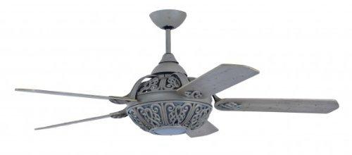 Retro ventilatore del soffitto di disegno Santa Pepeo Grigio sbiadito compreso illuminazione e Telecomando