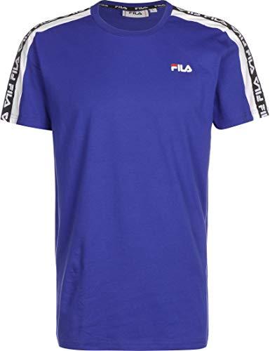 Fila T-Shirt Tobal Uomo Bluette Girocollo Stampa con Mini Logo e Bande Laterali 687700A484 L