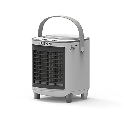 LSDQ Móvil Climatizador Evaporativo, 3 en 1 Ventilador de Aire Acondicionado Mini, Enfriador de Aire mit 3 Velocidades USB Humidificador Purificador sin Hojas, para Hogar y Oficina