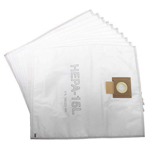 Viper (Nilfisk) VA81400-P10 HEPA SMS - Bolsas de Polvo de Microfibra (15 L, 10 Unidades), Color Blanco