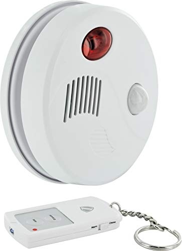 SCHWAIGER -5521- Decken-Alarm Bewegungsmelder innen | Bewegungssensor | Alarmanlage fürs Haus | Sirene | Einbruchschutz | Fenster-Sicherung | Tür-Sicherung