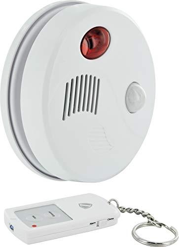 SCHWAIGER -5521- Decken-Alarm Bewegungsmelder innen   Bewegungssensor   Alarmanlage fürs Haus   Sirene   Einbruchschutz   Fenster-Sicherung   Tür-Sicherung