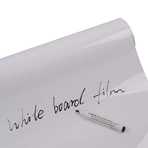 Decocar ホワイトボードシートフィルム 白板フィルム 簡単に貼れる 勉強シート 会議シート 落書きホワイト...