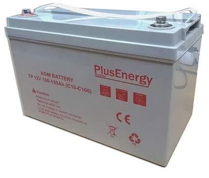 wccsolar.es Bateria Solar AGM Y Gel 12V PlusEnergy 150AH 250AH para instalación Solar Ciclo Profundo (150AH 12V AGM)