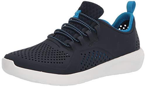 Crocs Literide Pacer K Freizeit Turnschuhe und Sportbekleidung Unisex Kinder, Multicolor (Navy/Weiß), 36 EU