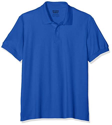 Gildan Dryblend Adult Double Pique Polo Camisa, Azul (Royal), S para Hombre