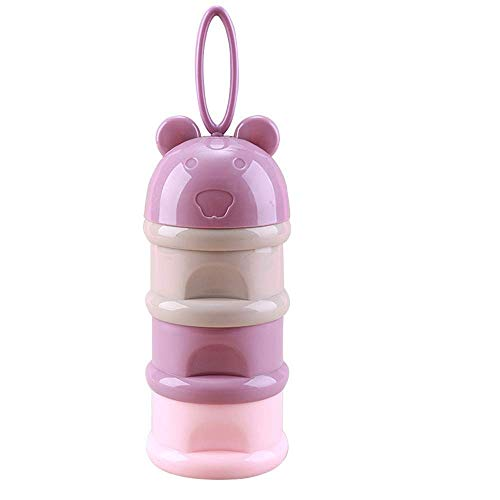 3 Layer Milk Container Cute Bear Portable Baby Food Milk Powder Storage Box Bottle Container Useful for Kids