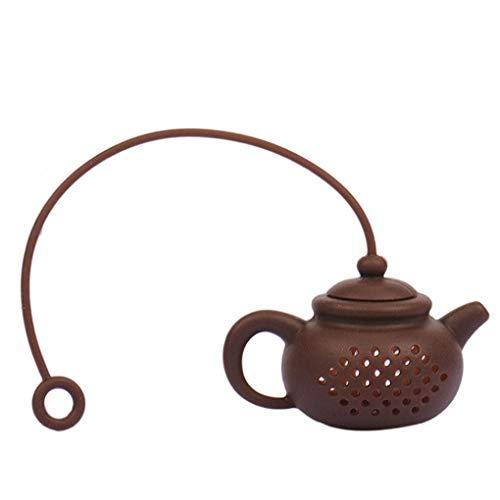 Yihaifu infusores de té de té de Silicona Infusers del Gel de Silicona del Estilo Chino Linda Forma de Tetera de Arcilla infusor la bolsita de té de la Hoja de Filtro difusor