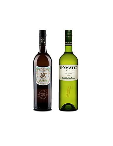 Vino fino en rama Tío Pepe d 75 cl y Vino Fino Tío Mateo de 75 cl - Mezclanza Exclusiva