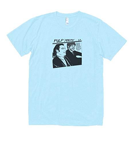音楽 バンド シネマ パルプフィクション 370 Tシャツ 半袖 水色 (XL)