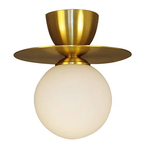 Industriële wandlamp hanglampen koperkleurige wandlamp ronde bol eenvoudige woonkamer slaapkamer werkkamer