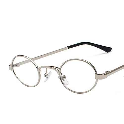 KUNIUO Gafas De Sol Redondas Gafas De Sol Punk Gafas De Sol para Mujer Gafas De Lujo Ovaladas Pequeñas Oculos De Sol Gafas-C7