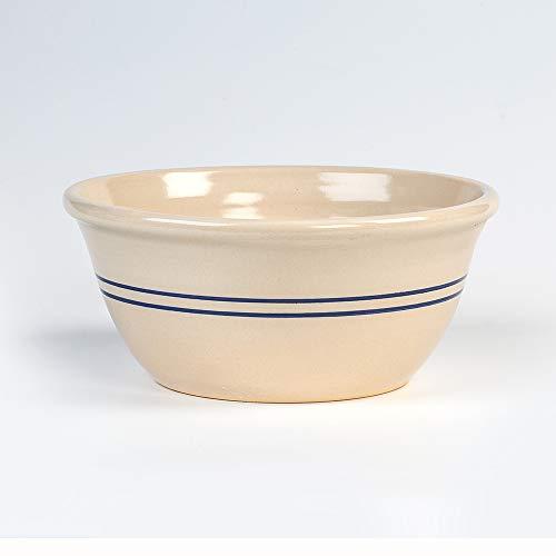 """12"""" Heritage Blue Stripe Stoneware Mixing Bowl"""