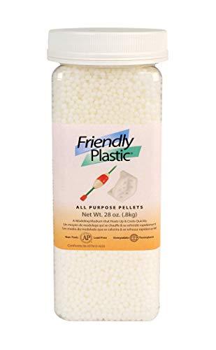 AMACO 70002C Friendly Plastic Pellets 28Ounce Ivory