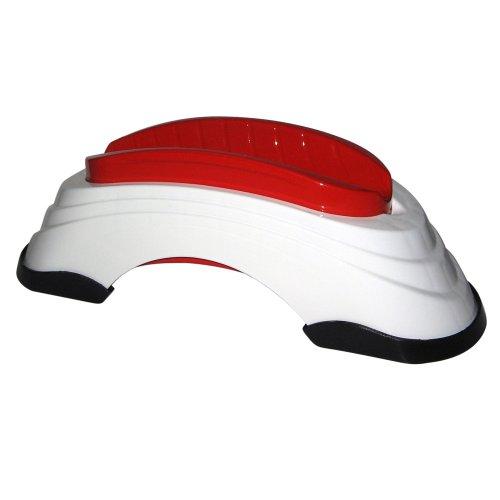 Elite Unisex– Erwachsene Vorderradstütze Su-Ta STA, Weß,Rot, One Size