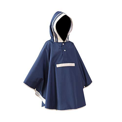 CLISPEED Poncho de Chuva Com Capuz Capa de Chuva Infantil à Prova Dágua - Capa de Chuva Leve Reutilizável para Crianças Menores de 5 Anos (Azul Marinho/S)