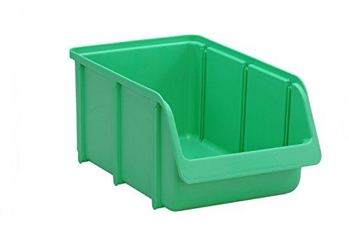 hünersdorff Sichtbox / Stapelbox / Lagerbox in Größe 4, stapelbar, Farbe: Grün