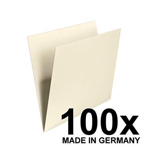 Original Falken 100er Pack Einstellmappe. Made in Germany. Aus Recycling-Karton für DIN A4 mit Schreibrand, für Steh- und Hängesammler hellchamois Blauer Engel ideal für die lose Blatt-Ablage