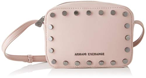Armani Exchange Damen Small Crossbody Bag Umhängetasche, Pink (Under The Skin), 15x7x20 cm