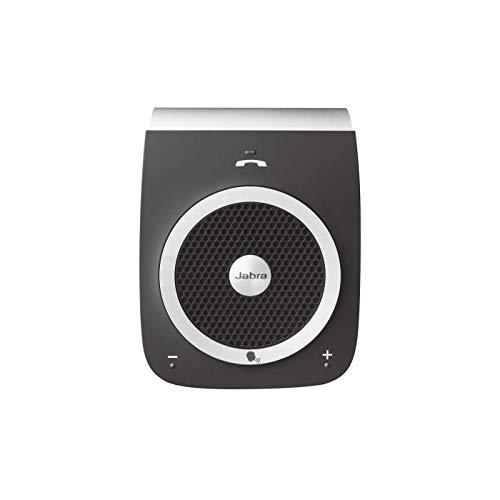 Jabra Tour Bluetooth KFZ Freisprecheinrichtung (Deutsche Sprachsteuerung, Doppelmikrofontechnologie, Geräuschunterdrückung, Audiostreaming) schwarz
