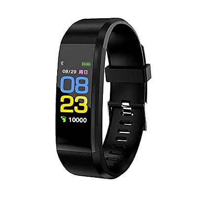 Amazon - Save 80%: Jesaisque 115Plus 0.96inch IPS Color Smart Watch Bracelet Rate Monitor- Bl…