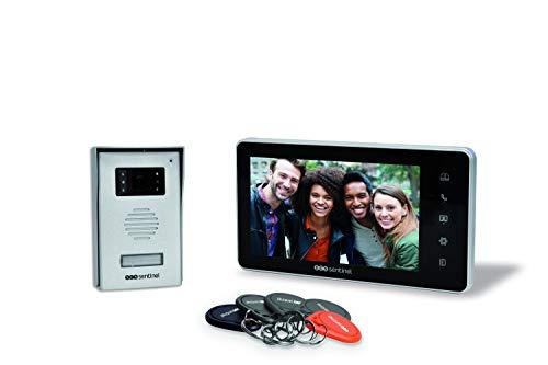 """Videoteléfono Conectado - Video Portero - Video Portero videoteléfono Conectado con la Pantalla de 7""""- Video intercomunicador con 5 Botones RFID RFID VisioKit 7 - PVF0037 SCS Sentinel"""