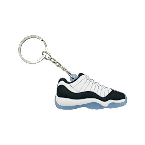ProProCo Sneaker Schlüsselanhänger Jordn 11 Schlüsselanhänger Schuh anhänger Fashion für Sneakerheads,Hype-Beasts Supreme Palace Nik Jordane Anhänger (Concrd)