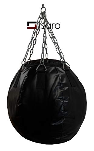 Lisaro Wrecking Ball, Throwdown Wrecking Ball, Boxsack Sandsack Punching Bag, MMA Sack, Gefüllt mit Stoffreste, Ca.27 Kg(60X60CM)