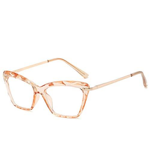 Burenqi@ Transparant Cat Eye Crystal Brilmontuur Voor Vrouwen Retro Zwart Metalen Frame Vierkante Bril Uv400