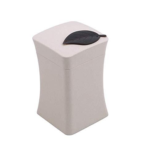 Dispensador de palillos de dientes, caja única, contenedor de plástico, color beige