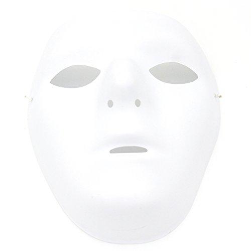 Kvvdi Female Scary White Blank Half Face Masks for Halloween DIY Scary Mask (Femal)
