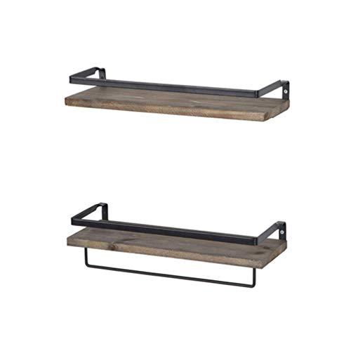 EXCEART Estantes de Pared de Madera Rústica Estantes de Pared Flotantes para Baño Cocina Dormitorio Sala de Estar Oficina Y Más