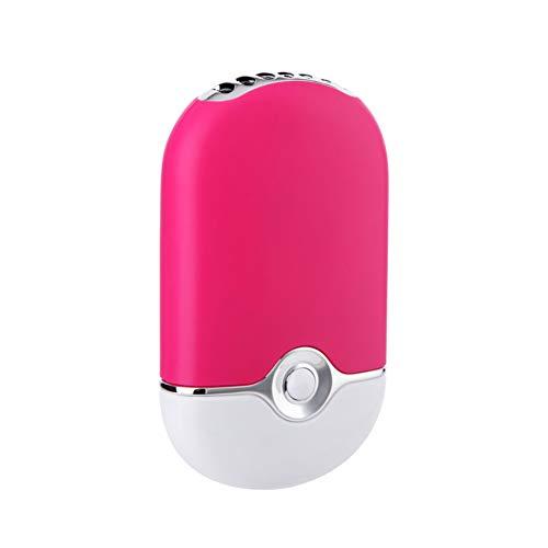 1PC USB-Mini bewegliche Fans nachladbare elektrische Bladeless USB-Miniklimaanlage Kühlung Gebläse-Trockner-Ventilator für Wimpern Rose Red