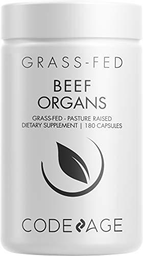 Codeage Grass Fed Beef Organs Supplement –...