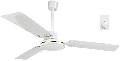 Sichler Haushaltsgeräte Ventilatoren: Deckenventilator mit 3 Metallflügeln und 3 Stufen, Ø 91 cm, 70 Watt (Deckenventilator mit Fernbedienung)