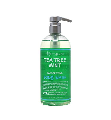 Renpure Original Tea Tree Essential Oil & Peppermint Moisturizing Body Wash With Pump – Body wash for Dry Sensitive Skin & Decongest Pores – Sulfate Free Body Wash & Liquid Hand Soap For Men & Women