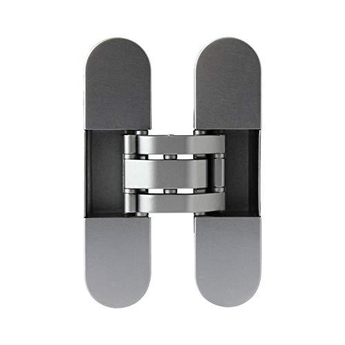 Türband Invisacta 120 3D, Türscharnier inkl. Abdeckkappen | Tragkraft 60 kg, vernickelt matt