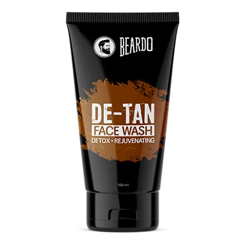 Beardo DeTan Face Wash for Men   Reduces tan for glowing complexion   Soothe and Heal   Safe for all skin types   Daily use facewash (100ml)