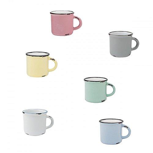 Canvas Home Tinware - Juego de tazas de café (6 unidades, 4 unidades)