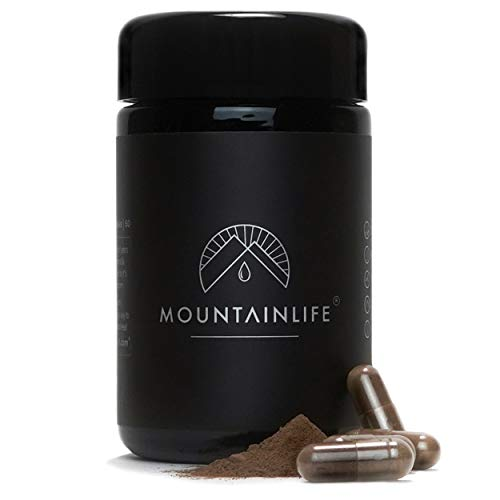 Mountainlife Natural Shilajit Capsules | UK Lab Tested | 60 Extract Capsules | Vegan Accredited | Herbal & Mineral Superfood | Miron UV Protected | Rich in Fulvic & Amino Acids, Minerals, Vitamins