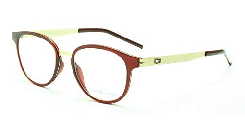 Tommy Hilfiger Designer Crimson Red Oval Women Spectacles Frame