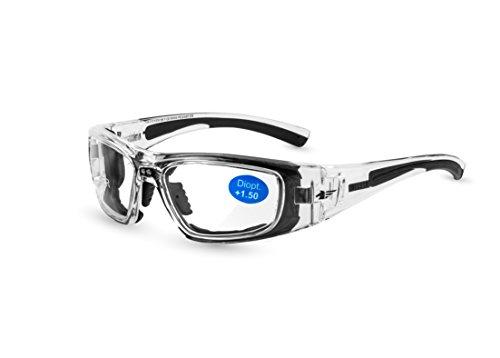 Pegaso 119.015 Gafas de Seguridad, Negro y Gris, L