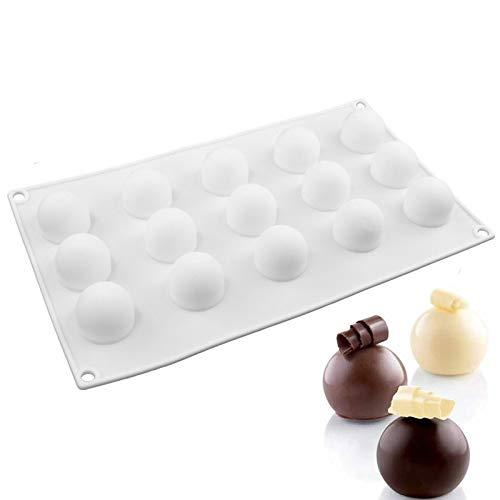 1pcs antiadhésif rond en silicone en forme de boule Mini Truffes Moule pour moule à chocolat Pâtisserie Truffe Dessert Décoration de gâteaux outils